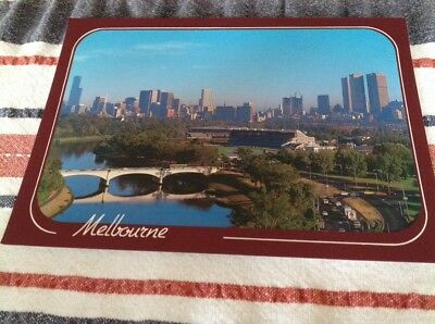 Postcard View Of Melbourne