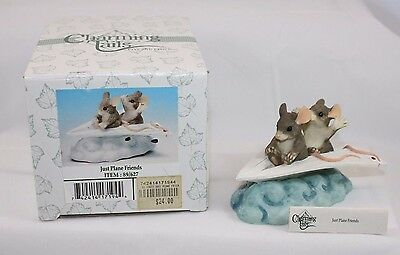 Fitz & Floyd Charming Tails Figurine Just Plane Friends #89627 Nib