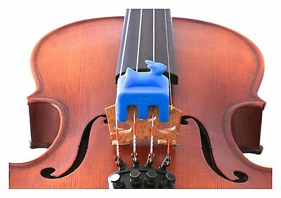 New Otto Musica artino weighted blue rabbit violin viola practice mute 4/4 size