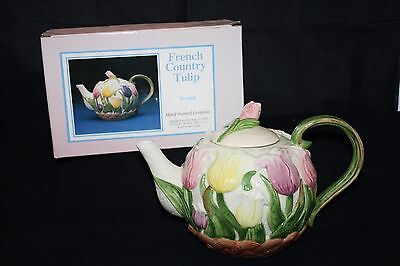 French Country Tulip Teapot in Box by Omnibus
