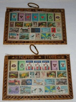 Beautiful Framed Philippine 1960s & 1970s Postage Stamp Collection