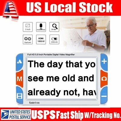 """5"""" IPS 3X-48X Low Vision Magnifier Digital Electronic Video Reading Aid Elderly"""