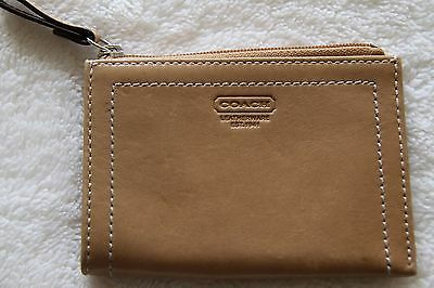 Authentic Coach Tan Leather Credit Card Case Wallet