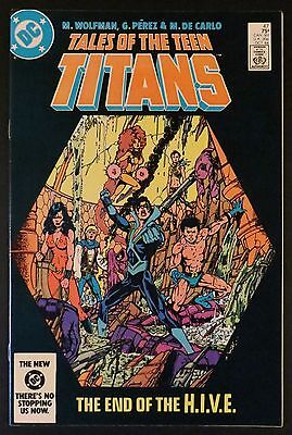 TALES OF THE TEEN TITANS 45 46 47 48 49 50 VF/NM 6 Issue Lot George Perez DC '84