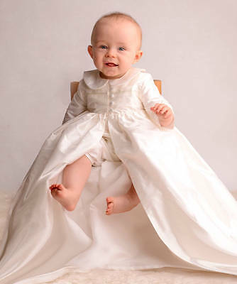 Christening Gown Outfit Suit Dress Boys Girls Set Ivory 0-12 Months