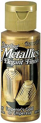 DecoArt Americana Acrylic Metallic Paint, Emperors Gold Brand New Free Shipping