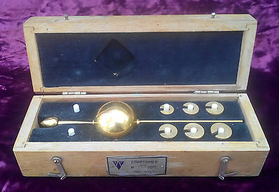1953 Soviet USSR gilded Russian ALCOHOL METER Hydrometer for liquor in a box