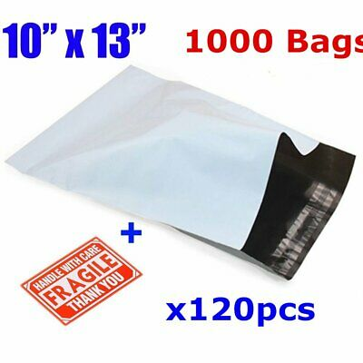 1000 10x13 Poly Mailer Polybag Shipping Envelope Self Sealing Plastic Bag 2.5mil