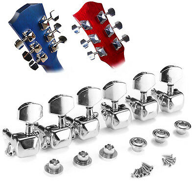 Acoustic Guitar String Button Semi closed Tuning Pegs Tuner Machine Heads Knob