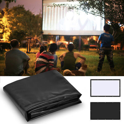 Super PVC Behind Back Rear Projection Screen Curtains for HD Projector Beamer BT