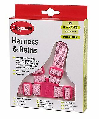 Girls Safety Harness Reins Childrens Walking Harnesses 6 Month - 4yrs Pink New