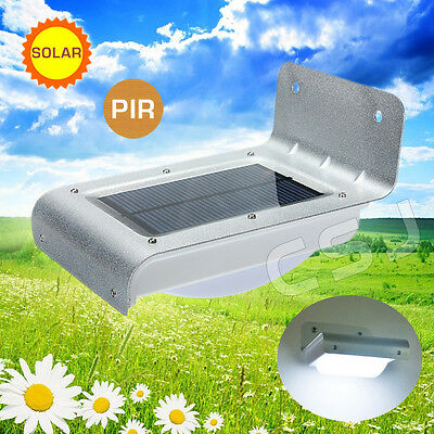 SOLAR 16 LED Solar Power PIR Motion Sensor Outdoor Security Garden Wall Light