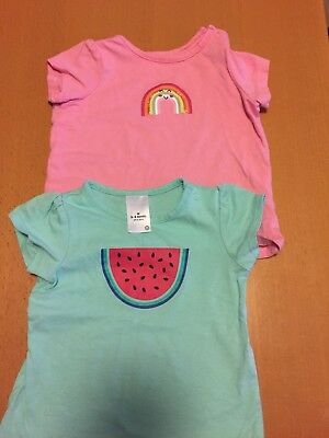 Target Baby T-shirts Size 3-6 Months 00 Rainbow/Watermelon