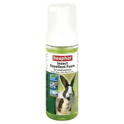 Beaphar Flea Tick Mite Insect Repellent Foam Spray Small Animals Rodents 150ml