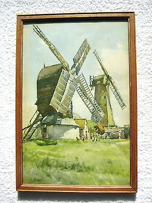 Windmill Original Water Colour Picture, A. Marc