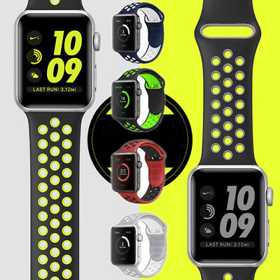 Bracelet sangle bande silicone fitness remplacer pour Apple watch 38/42mm