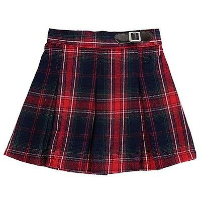 New Baby Girls Red & Black Checked Tartan Skirt- Age 12-18 Months