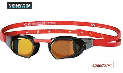 Speedo - Racing goggles -IQ fit - fastskins RRP $100 -16 colour comb one goggle