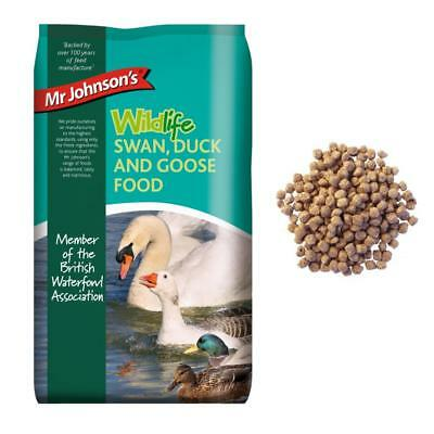 Mr Johnsons Wildlife SWAN DUCK GOOSE Wildfowl Food Balanced Nugget Mix 750g