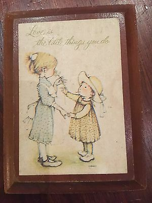 Vintage Holly Hobbie small picture frame