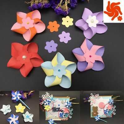 3D flower windmill Metal DIY Cutting Dies Stencil Scrapbooking Embossing Crafts