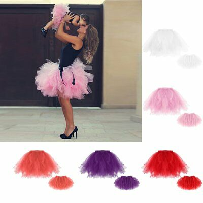 Kids Baby Girls Women Adult Tutu Skirts Ballet Princess Party Pettiskirt Dress