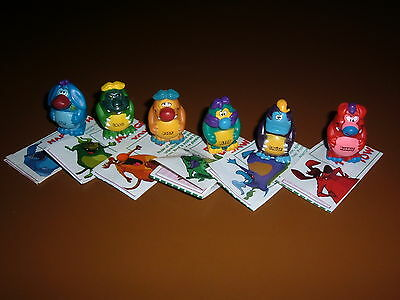 Series 1 Yowie Men Set Of 6 With Papers  Excellent