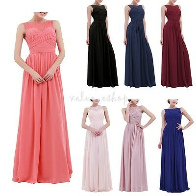 Women Lace Bridesmaid Dress Formal Long Evening Party Cocktail Wedding Prom Gown