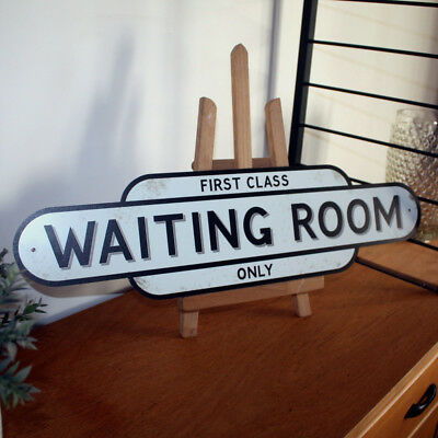 Vintage Style WAITING ROOM Sign, First Class Train Station Sign Upto HUGE 4ft