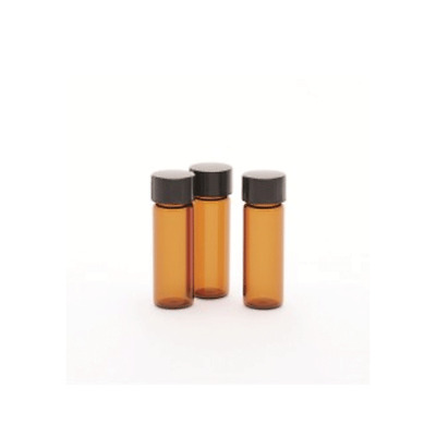 Amber Glass Vials With Attached Phenolic Cap, Rubber Liners, 20ml 72 Pack