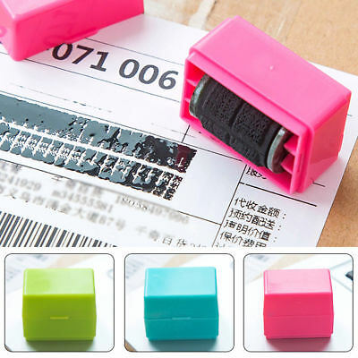 Plus Guard Your ID Privacy Safety Courier Stamp Code Roller Type Messy Protecter