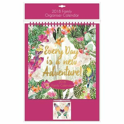 Every Day Is A New Adventure 2018 Family Organiser