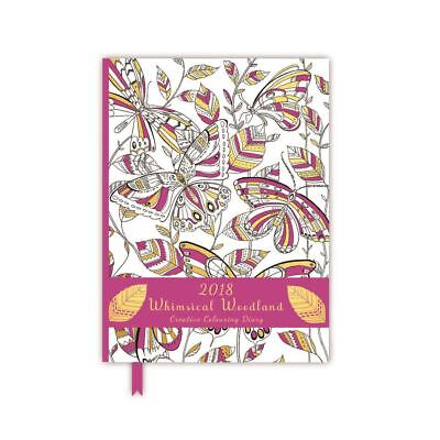 2018 Whimsical Woodland Creative Pink Colouring Diary