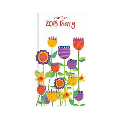 Marzipan Flowers 2018 Slim Cased Diary