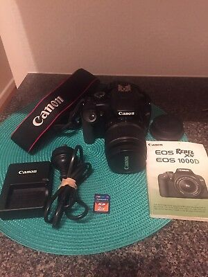 Canon  EOS 1000D Digital SLR Camera - Black (Kit w/ EF-S 18-55mm Lens 10.1MP