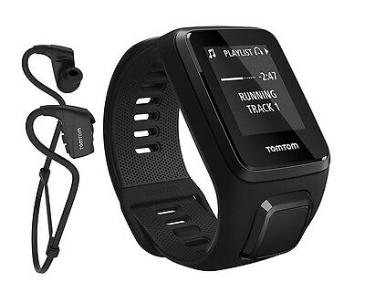 TomTom Spark 3 Music GPS Fitness Watch Activity Monitor Headphones Black - Small