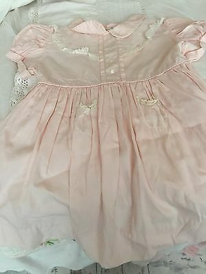 "Adoreable Vintage Hand-Made ""Tots Original"" Baby Dress"
