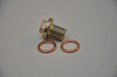 VW T25 T3 Oil Sump Plug with 2 copper washers drain bolt N0297012 068103193A A8