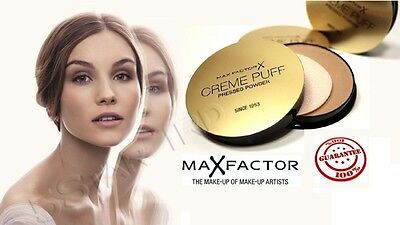 Max Factor Creme Puff Compact Powder -PASTELL POWDER All Shades