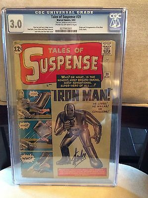 Tales of Suspense # 39 CGC 3.0 C/OW UnRestored Signed By Stan Lee Not SS Blue