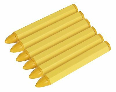 Sealey Yellow Tyre Marking Crayon Pack Of 6 TST14