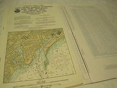 Vtg 1993 Noaa Nautical Chart #12364 New Haven Harbor To Throgs Neck Long Island