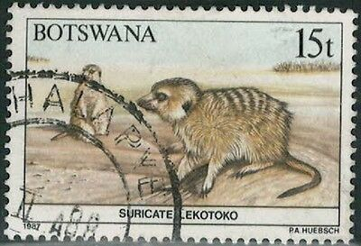 Lot 4210  - Botswana - 1987 15 thebe multicoloured Suricate used stamp