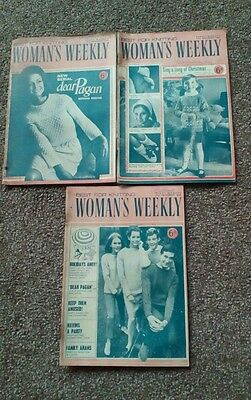 Vintage Magazine: Woman's Weekly's x 3 - 1966