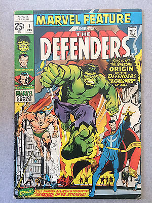 Marvel Comic MARVEL FEATURE PRESENTS #1 - THE DEFENDERS Vintage Silver Age