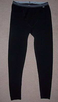 MOUNTAIN DESIGNS - Mens Black Merino Wool Base Layer /Long John Pants - 2XL NWOT
