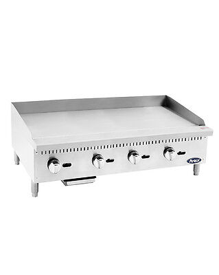 """Atosa USA ATMG-48 Heavy Duty 48"""" Griddle Grill Nat Gas LP Flat Stainless Steel"""