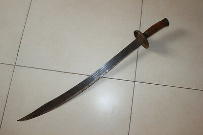 Exquisite Antique Chinese Wood Handle Nice Blade Iron Knife