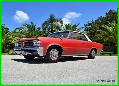 1964 Pontiac GTO 389 V8 4-Speed Rare Sunfire Red  Ivory Cordova top 389 V8 4-Speed Rare Sunfire Red  Ivory Cordova top