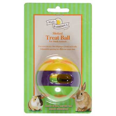 Harrisons Small Animal Slotted Treat Dispensing Play Interactive Ball Toy 12cm